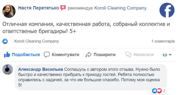 Отзыв о генеральной уборке дома с мытьем окон